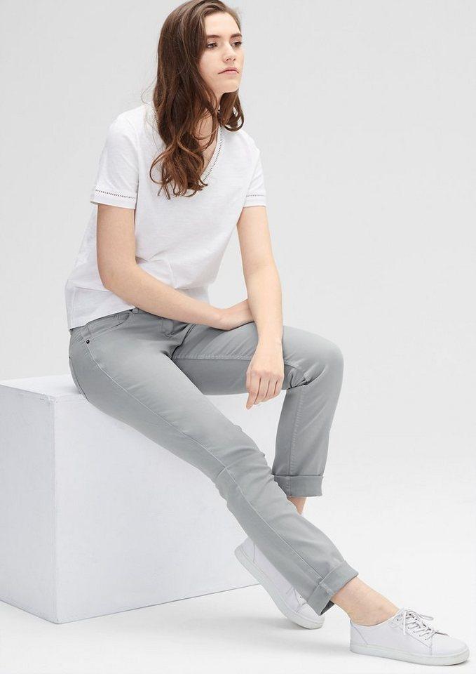 s.Oliver RED LABEL Shape Slim: Stretch-Hose in soft grey