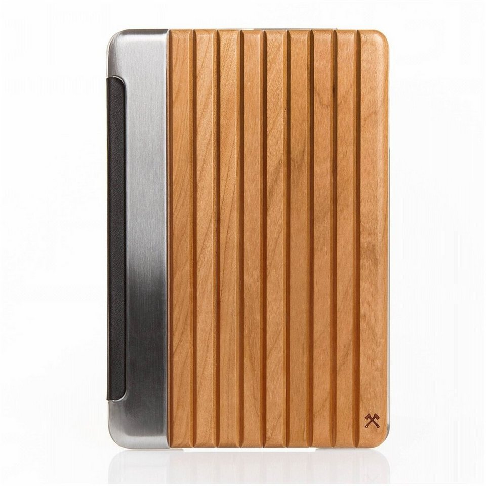 Woodcessories EcoGuard - Echtholz Case für iPad Mini 1-3 - Tackleberry in Silber