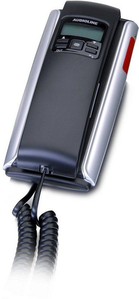 Audioline Telefon analog schnurgebunden »TEL 106« in Schwarz