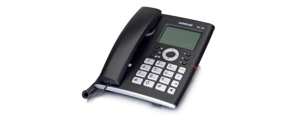Audioline Telefon analog schnurgebunden »TEL 136«