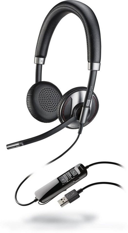 Plantronics Headset »Headset Blackwire USB C725 binaural ANC (UC)« in Schwarz
