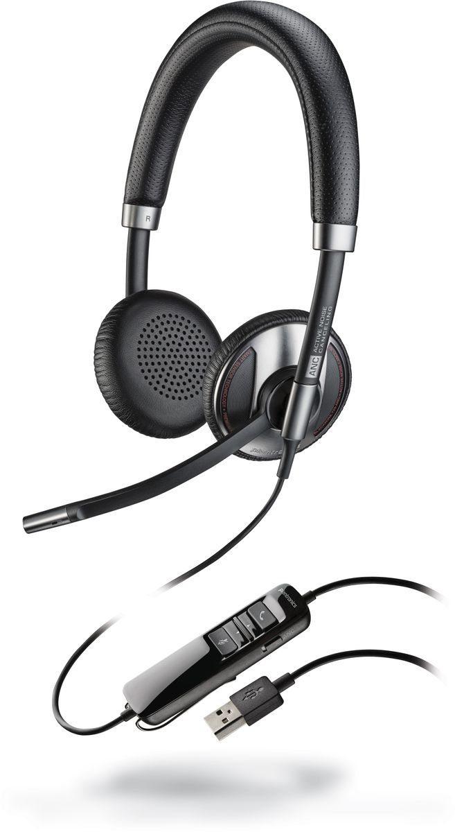 Plantronics Headset »Headset Blackwire USB C725 binaural ANC (UC)«