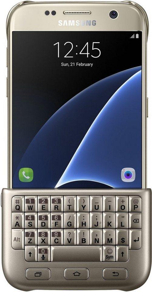 Samsung Handytasche »Keyboard Case mit Tastatur für Galaxy S7« in Gold