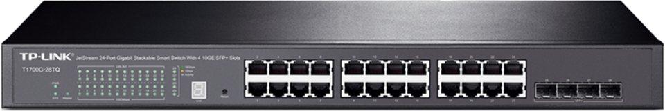 TP-Link Switch »T1700G-28TQ 28-Port Gbit Smart Switch 4x 10G SFP+« in Schwarz