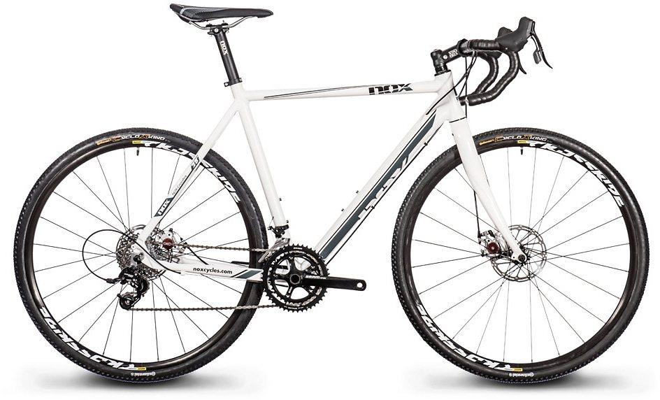 Nox cycles Cyclocross-Rad, 28 Zoll, 20 Gang Kettenschaltung, »Crossfire Comp Disc« in weiß-grau