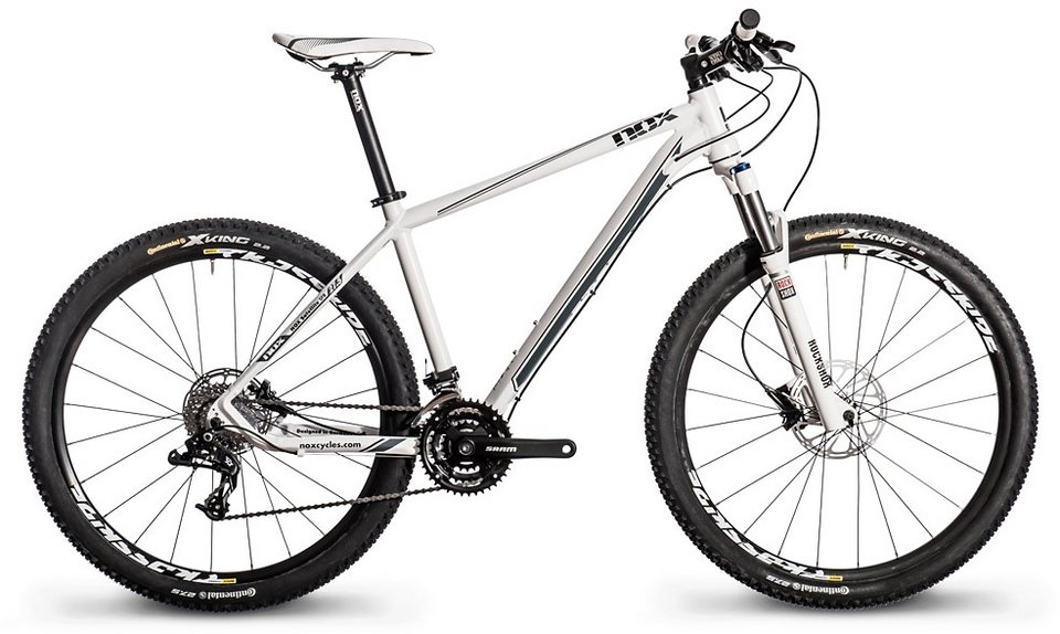 Nox cycles Mountainbike, 27,5 Zoll, 27 Gang Kettenschaltung, »Satellite SFB Comp« in weiß