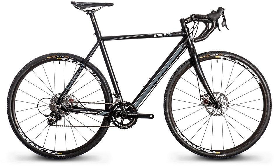 Nox cycles Cyclocross-Rad, 28 Zoll, 20 Gang Kettenschaltung, »Crossfire Comp Disc« in schwarz-grau