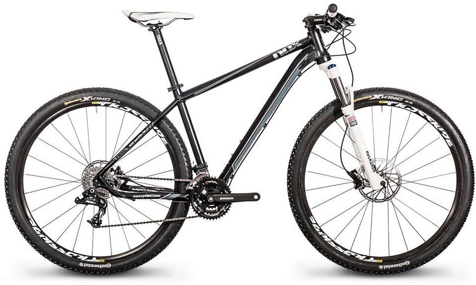 Nox cycles Mountainbike, 29 Zoll, 27 Gang Kettenschaltung, »Satellite TN Comp« in schwarz-weiß
