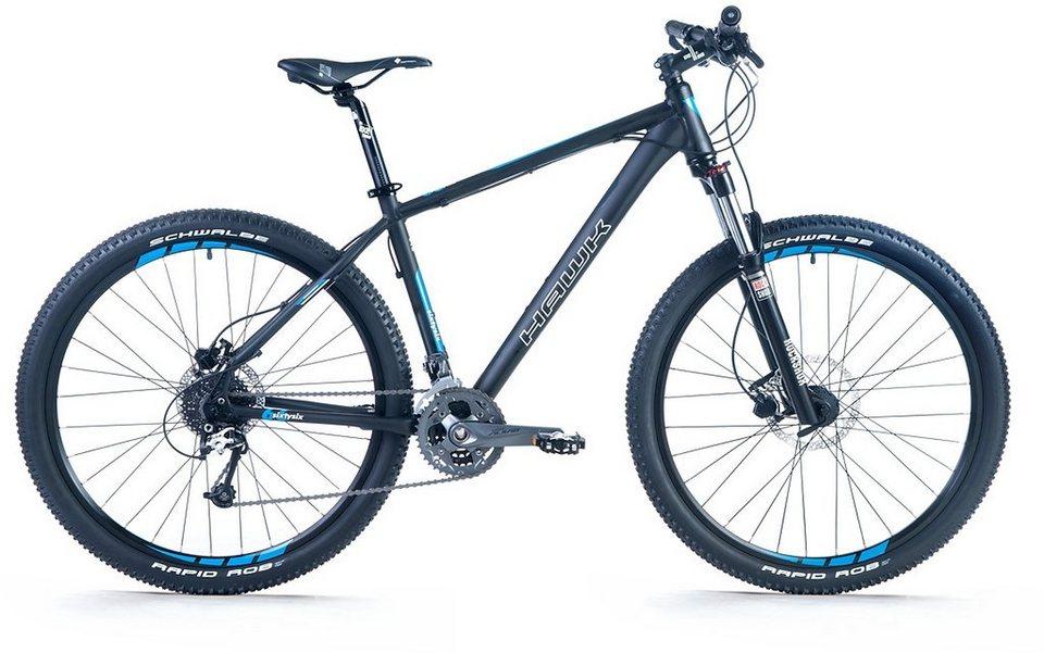 Hawk Mountainbike, 27,5 Zoll, 27 Gang Shimano XT-Schaltung, »Sixtysix 27,5« in schwarz-blau