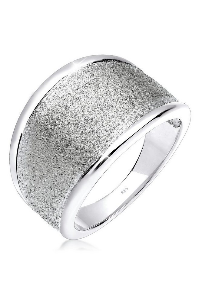 Elli Ring »Basic Matt Trend 925 Silber« in Silber
