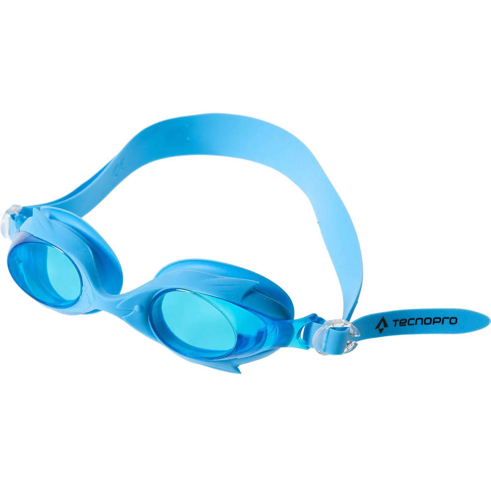 Tecnopro Schwimmbrille Shark Pro Kids, blau
