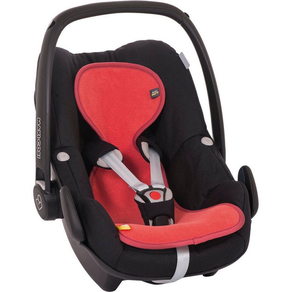 Sitzeinlage AeroMoov air layer für Babyschale, Korallenrot in rot