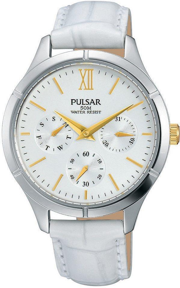 """Pulsar Multifunktionsuhr, """"Aus dem Hause Seiko"""", »PP6227X1« in weiß"""