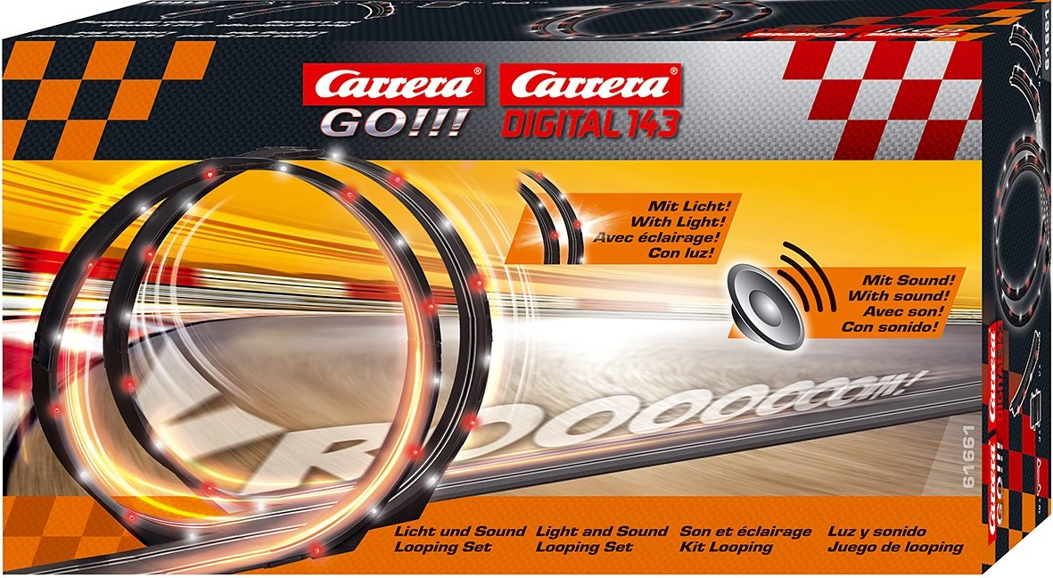 Carrera® Looping mit Licht und Sound Carrera®GO!!! + Carrera®Digital 143, »LED Looping Set«