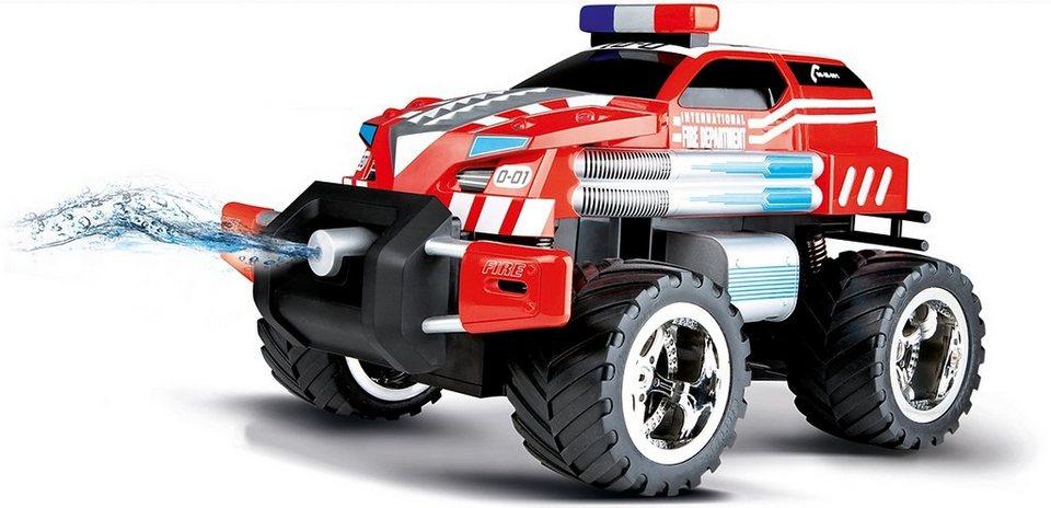 Carrera® RC Auto Komplett Set mit Wasserspritze und Licht Maßstab 1:14, »Carrera®RC Fire Fighter in rot