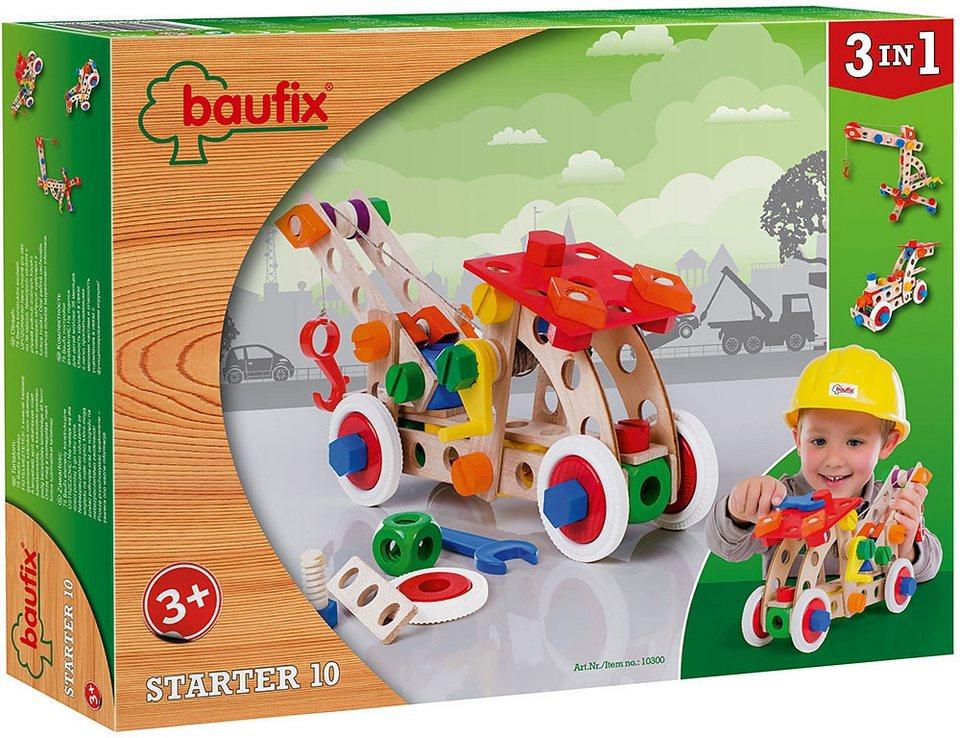 Baufix Holz Bauset, »Starter 10« (75tlg.)