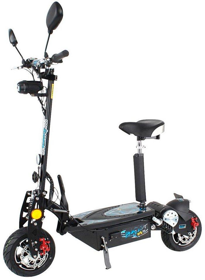 E-Scooter »SXT1000 XL EEC«, 1000 Watt, 40 km/h in schwarz