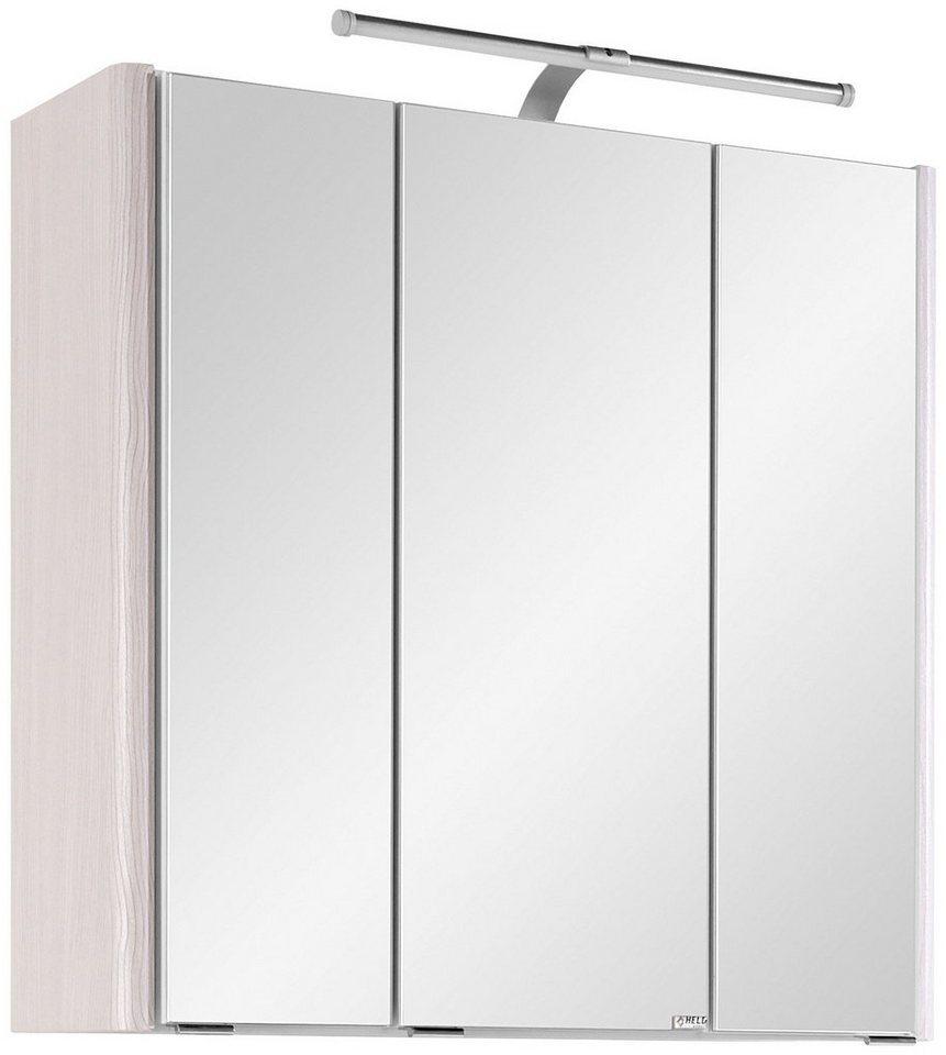 Spiegelschrank »Orlando« Breite 65 cm, mit LED-Beleuchtung in silberfarben