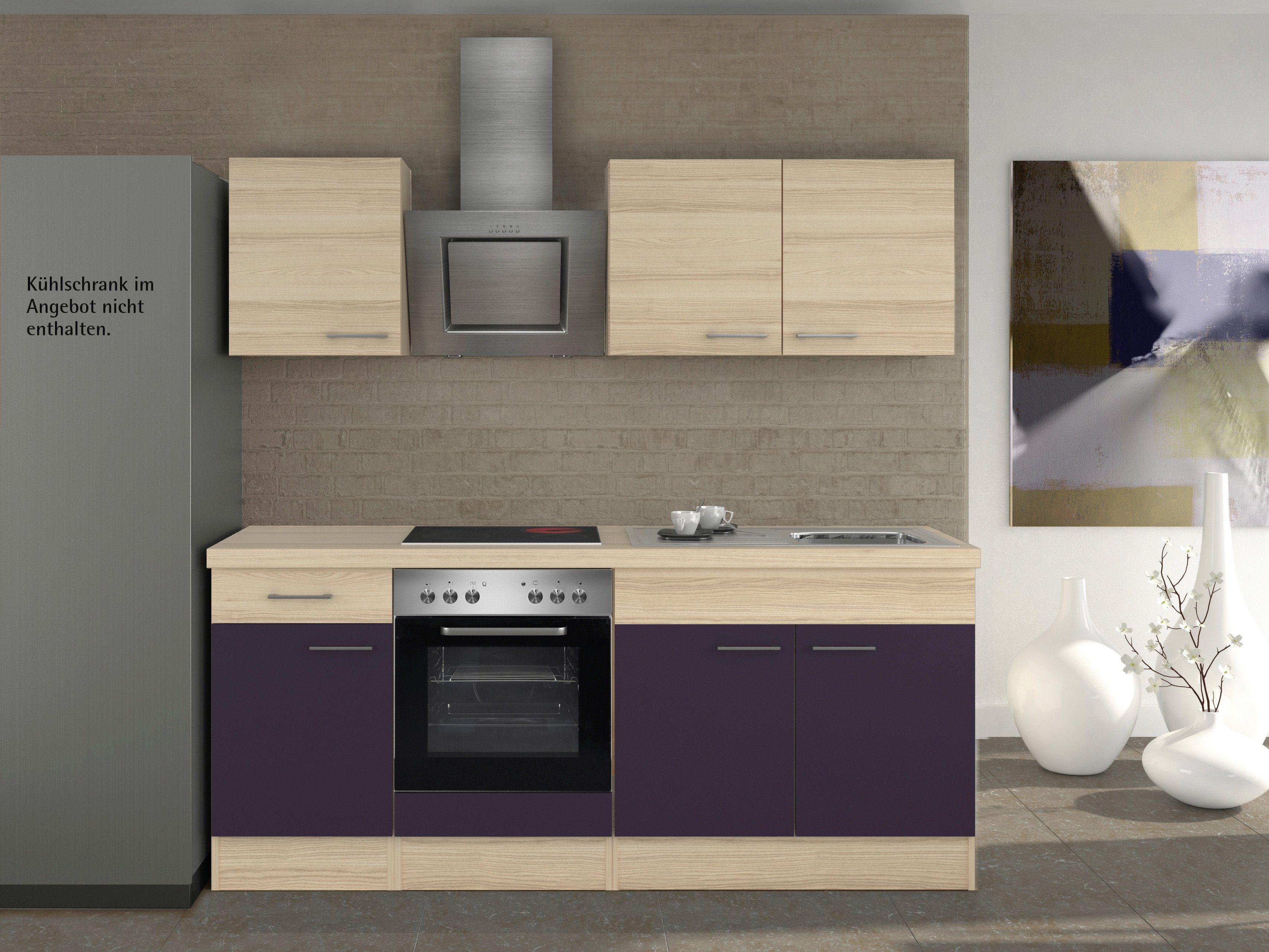 Küchenzeile mit E-Geräten »Portland«, Breite 210 cm, Set 1