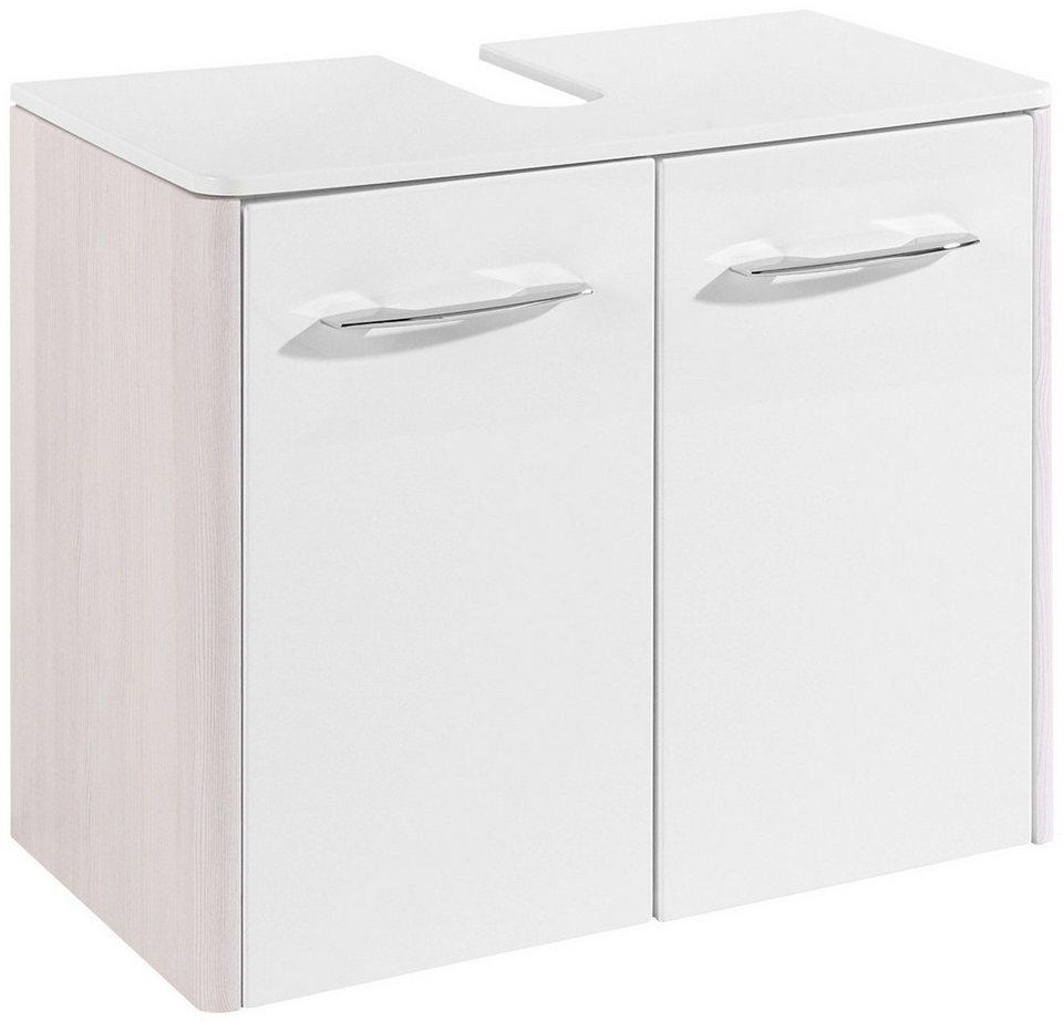 Waschbeckenunterschrank »Orlando«, 65 in weiß/silberfarben