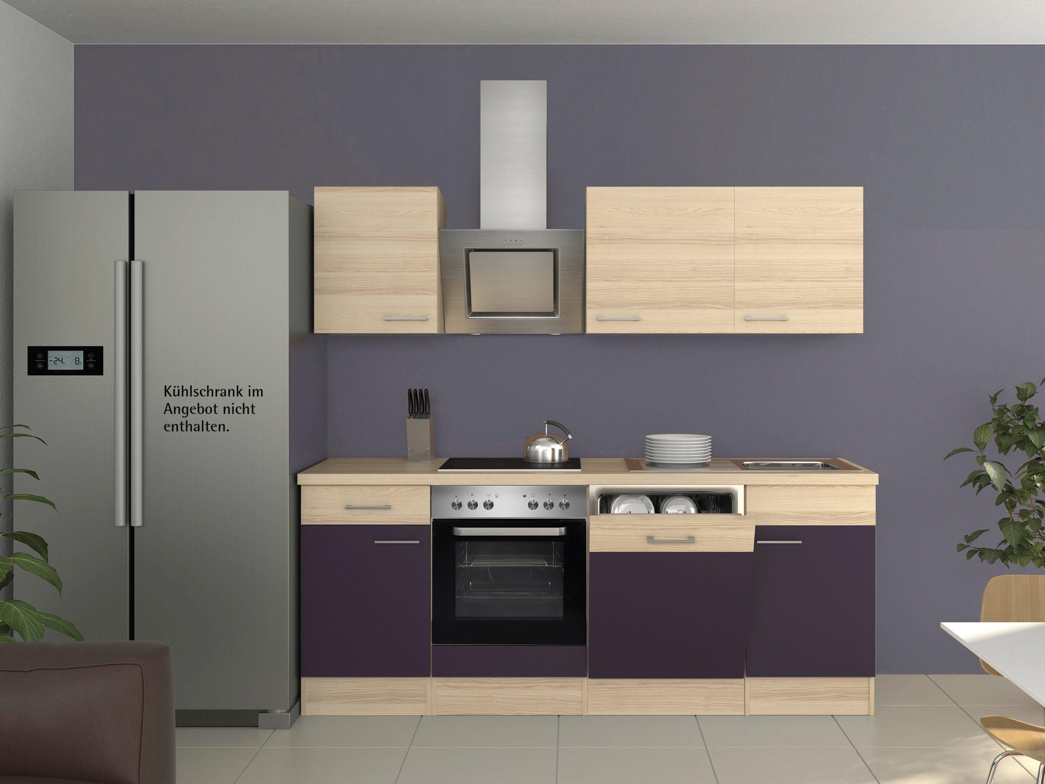 Küchenzeile mit E-Geräten »Portland, Breite 220 cm, Set 2«
