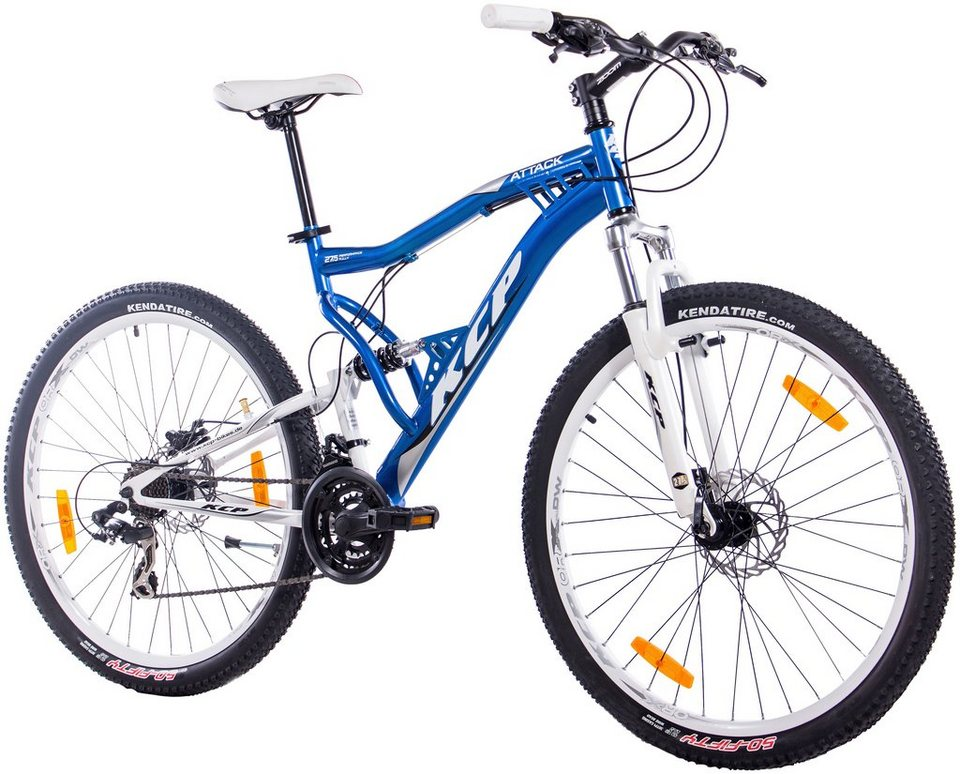 Mountainbike »ATTACK blau, 70 cm (27,5 Zoll)« in blau