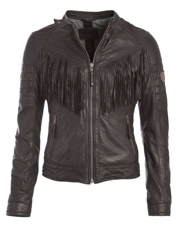Mustang Lederjacke, Damen Passy in schwarz
