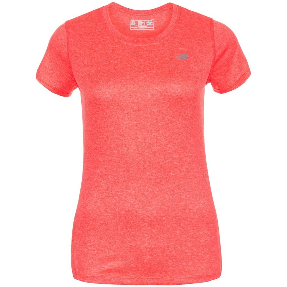 NEW BALANCE Heathered Laufshirt Damen in pink