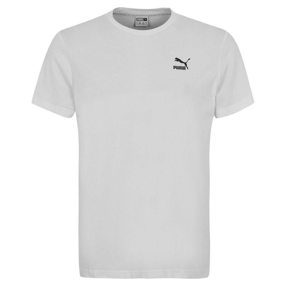 PUMA Evo Bold Logo T-Shirt Herren in weiß / schwarz