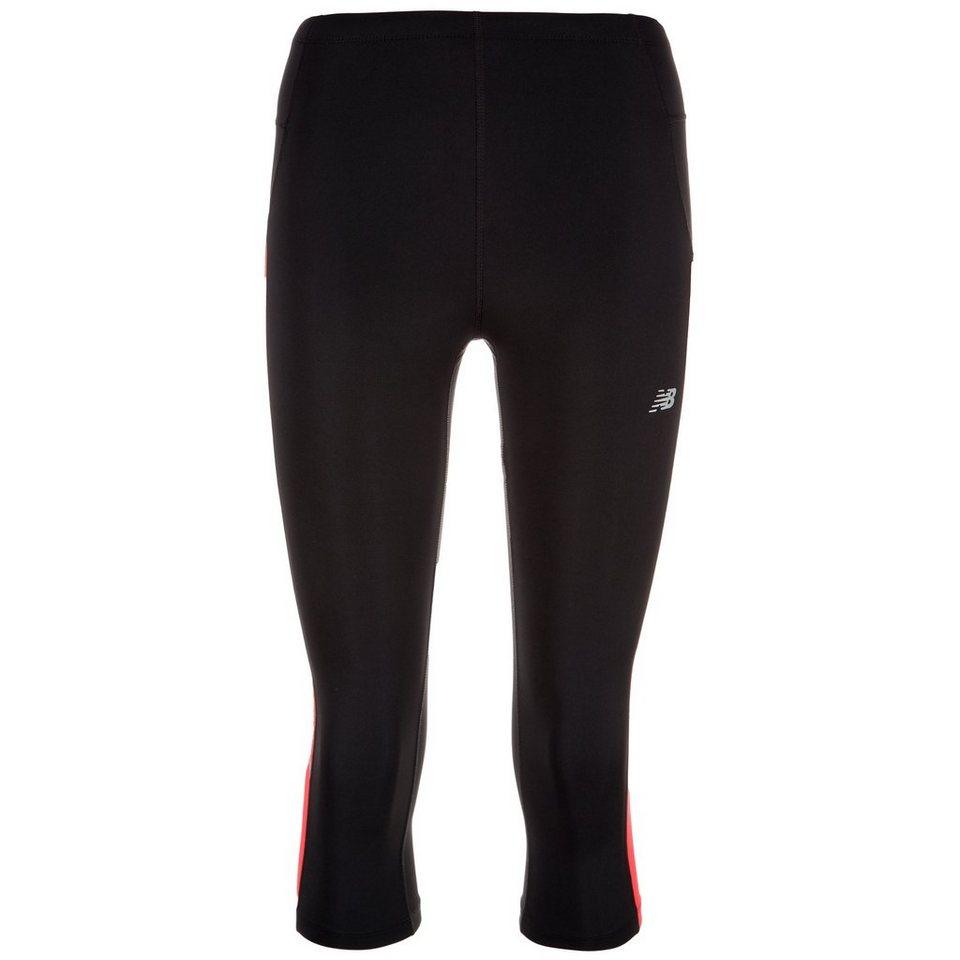 NEW BALANCE Accelerate Capri Lauftight Damen in schwarz / pink