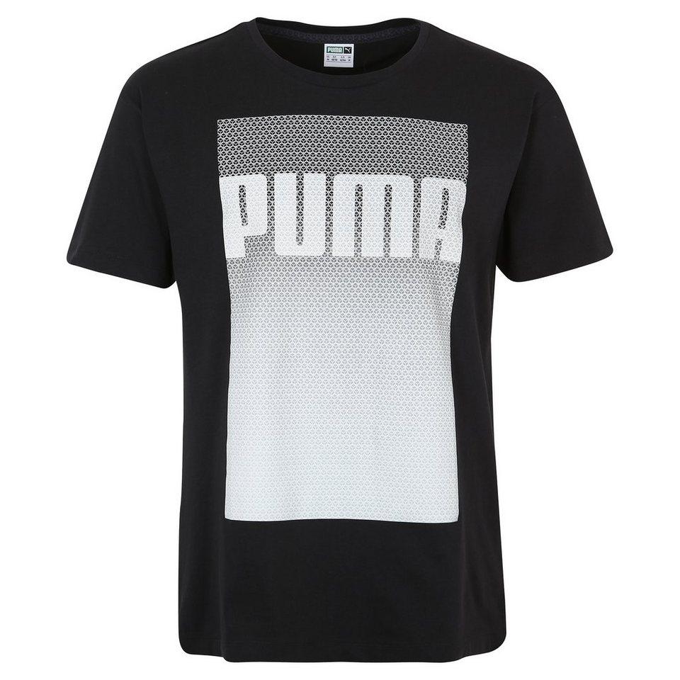 PUMA Evo Longer Line Logo T-Shirt Herren in schwarz