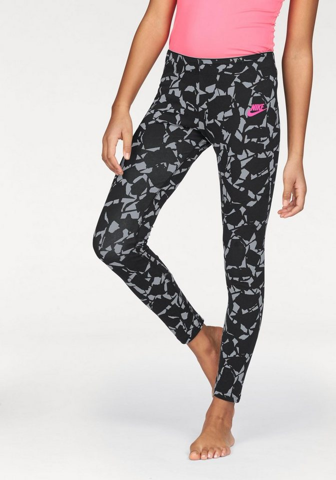 Nike Leggings »NSW LEGGING AOP« in schwarz-gemustert