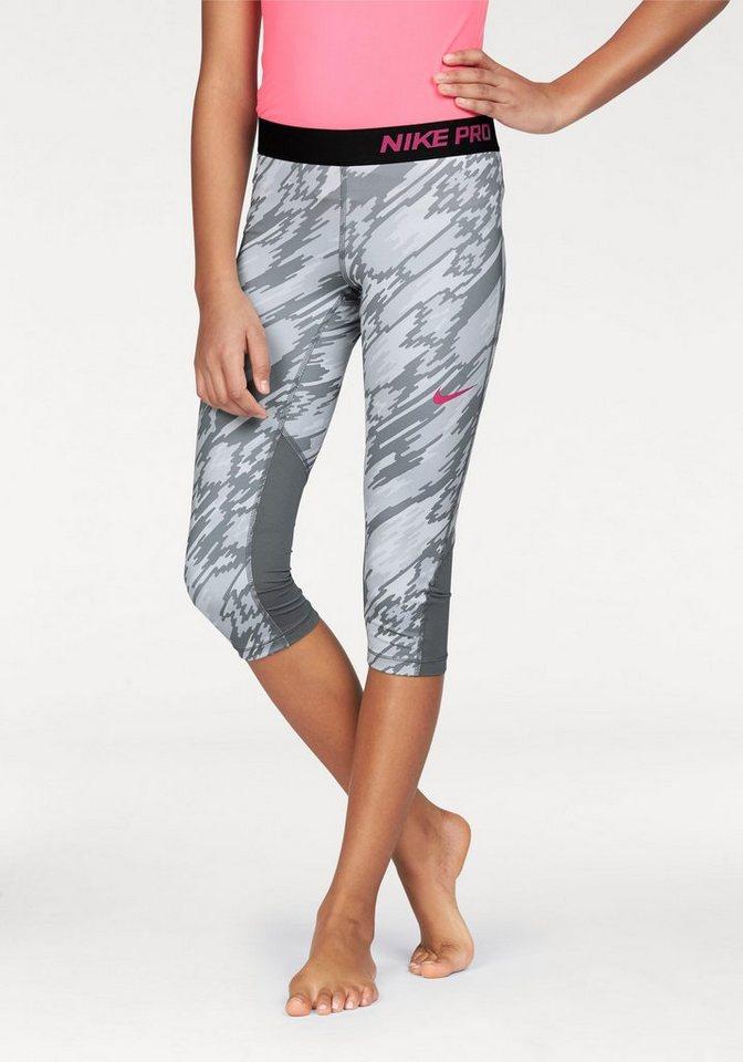 Nike 3/4-Hose »PRO DRI-FIT CAPRI AOP2« in grau-gemustert