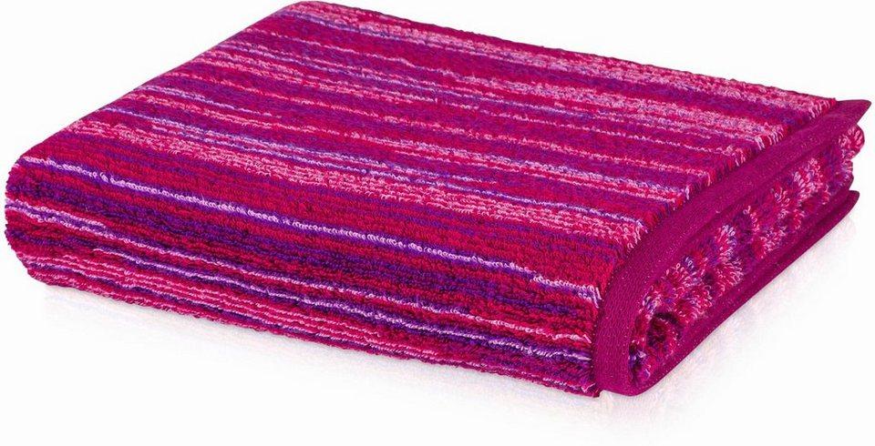 Handtuch, Möve, »Jewel Streifen«, mit bunten Streifen in beere