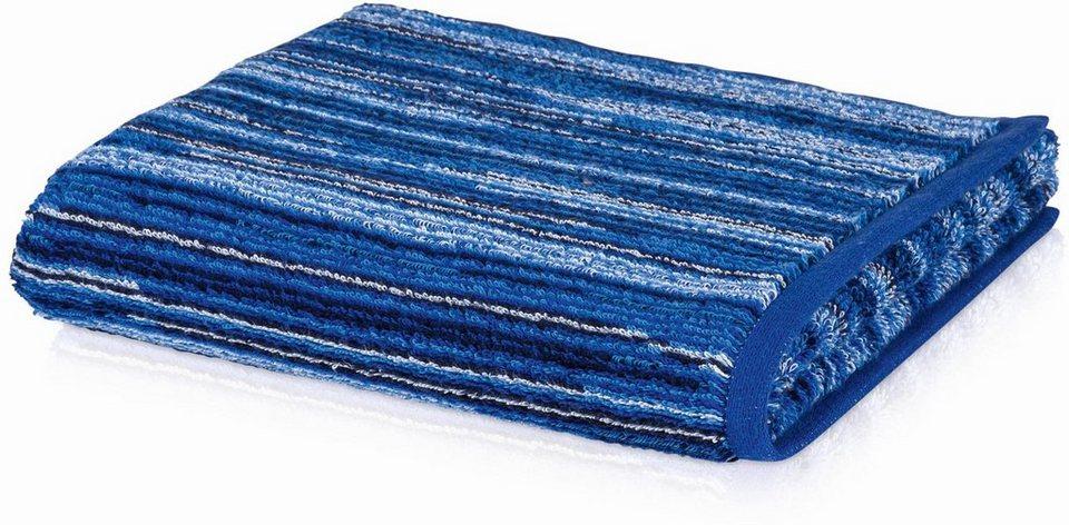Badetuch, Möve, »Jewel Streifen«, mit bunten Streifen in blau