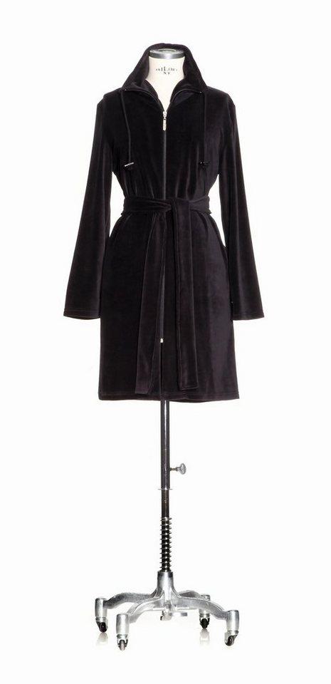 Damenbademantel, Möve, »Nicki«, im Parka-Style in schwarz
