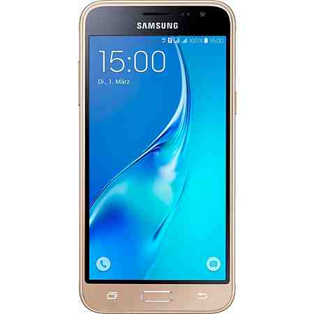 Samsung Galaxy J3 (2016) Duos Smartphone, 12,6 cm (5 Zoll) Display, LTE (4G), Android 5.1 Lollipop