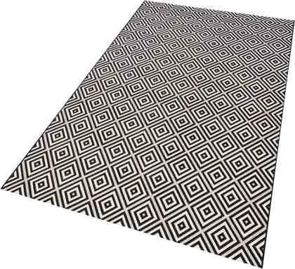 Teppich »Karo«, bougari, rechteckig, Höhe 8 mm, In- und Outdoorgeeignet, Sisaloptik