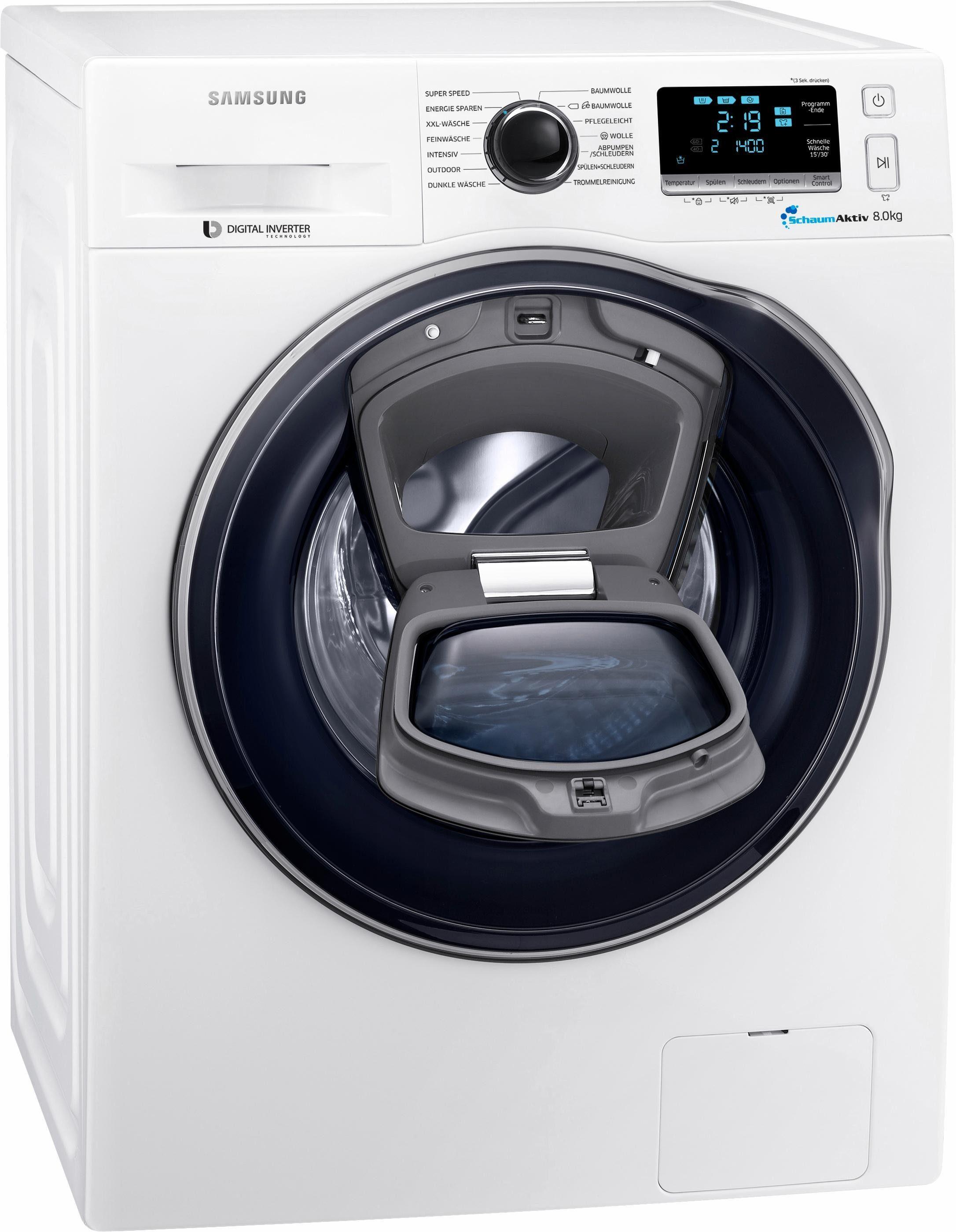 Samsung Waschmaschine WW8EK6404QW/EG, A+++, 8 kg, 1400 U/Min