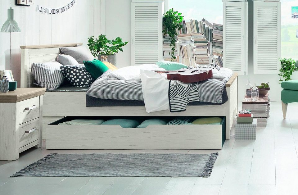 set one by musterring bett oakland typ 81 und 82 in zwei breiten pino aurelio online kaufen. Black Bedroom Furniture Sets. Home Design Ideas