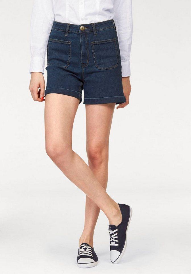 Arizona Shorts »Denim-High-Waist« in dark-blue