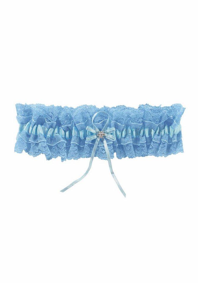 J. Jayz Strumpfband mit hübscher Spitze in hellblau