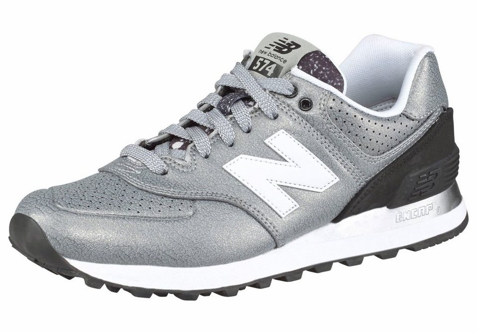 New Balance »WL574« Sneaker in silberfarben