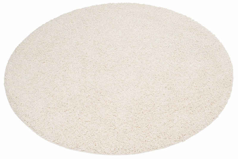 Hochflor-Teppich »Viva«, Home affaire, rund, Höhe 45 mm, gewebt, Wohnzimmer