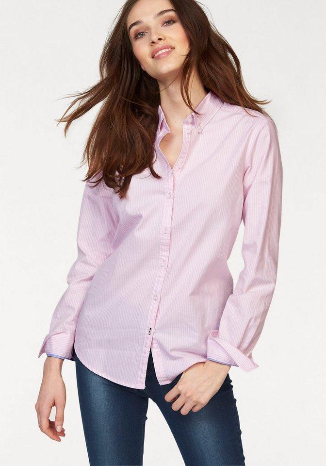 Only Klassische Bluse »Cisi« in rosa-weiß-gestreift