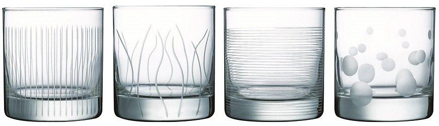 Luminarc Whiskybecher, 4 Stück, 38 cl, »LOUNGE CLUB« in transparent