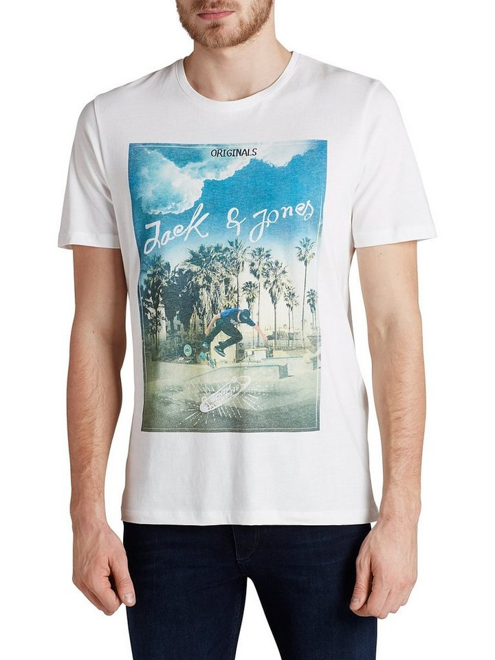 Jack & Jones Fotoprint T-Shirt in Cloud Dancer