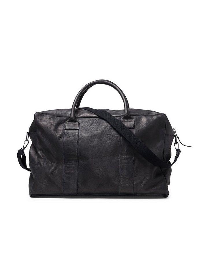 Jack & Jones Strapazierfähige Leder Freizeittasche in Black