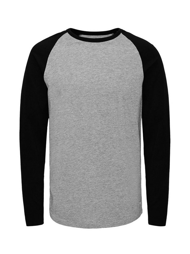 Jack & Jones T-Shirt in Light Grey Melange
