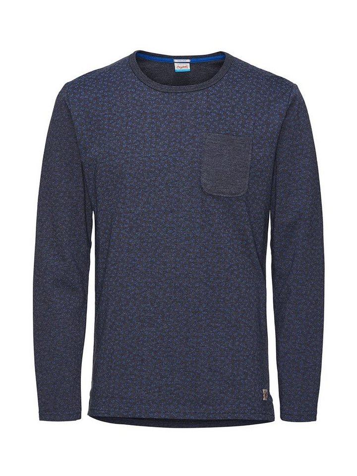 Jack & Jones Minimalprint- Sweatshirt in Navy Blazer